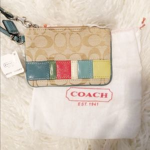 New Coach wristlet. Fun colors perfect for summer